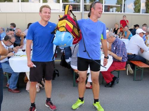 Ankunft Läufer in Maienfeld