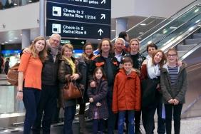 Verabschiedung von Alex Kraan mit Gastfamilien, 12. Januar 2018